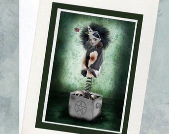 Jack In A Box Greeting Card - A5 Greeting Card - Claustrophobia