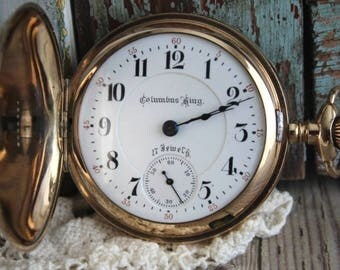 Antique Columbus 1902 Hunter Case Pocket Watch by avintageobsession on etsy...FREE USA Sipping