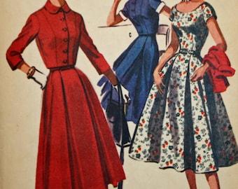 "Vintage 1950s Sewing Pattern, McCall's 3531, Misses' Dress and Bolero Jacket, Misses' Size 14, Bust 32"", Estate Sale Find"