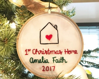 First Christmas as a Family Ornament, Adoption Ornament, Family Ornament, 2017 Ornament, Embroidery Ornament, Adoption, Adoption Gift Kmart
