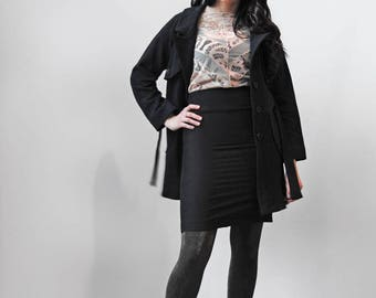 Trench Jacket / Belted Jacket / Long Jacket / Modern Minimal Style / Office Fashion / Hemp / Notch Collar / Eco friendly / Charlie Jacket