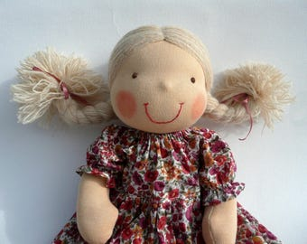 "16"" Waldorf doll- READY TO SHIP, Waldorf, Waldorf doll, Custom Waldorf doll, Organic doll, Gift for Mom, Gift for kids, wool, Steiner doll"