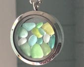 Irish Sea Glass Locket - Mermaid's Tears - Living Locket
