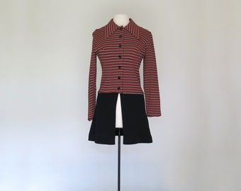 PATTI // late 60s or early 70s mod button up shirt dress mini