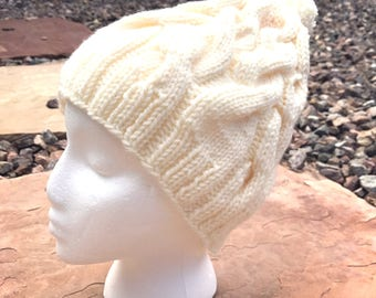 Women's Slouchy Cabled Hat