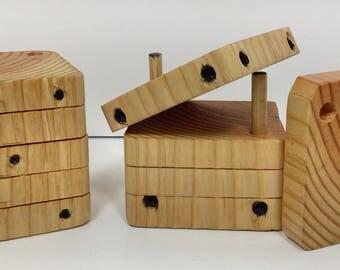 Wooden Dice Coaster/Puzzle Set