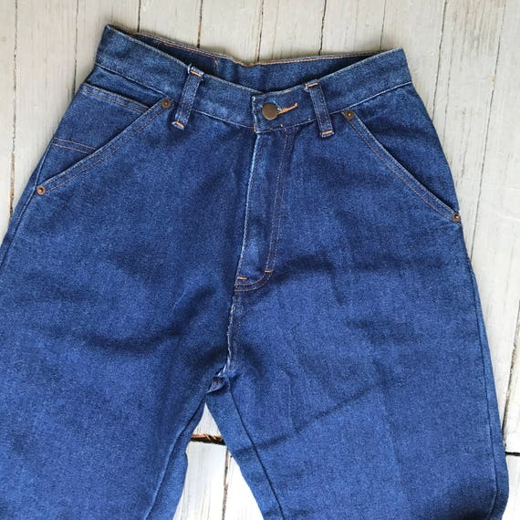 Mom Jeans, 80s blue jeans, Vintage denim, High Waisted jeans, New old stock, BOGARE Jeans, denim Trousers, Dark wash jeans, Super High Waist