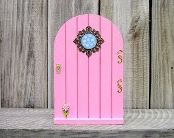 Wood Fairy Door, Pink, Indoor Fairy Door, Childs Gift, Fairy, Pretend Play, Girl Gift, Magical Portal, Miniature Door, Fairy Play