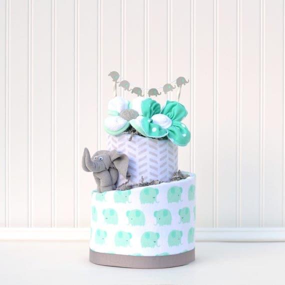 Mint Elephant Blossom Cake