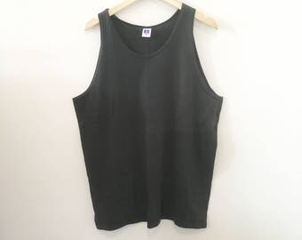 90's Faded Black Tank Top