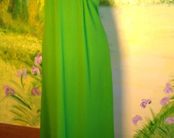 Sixties, Spring Green  Maxi Dress