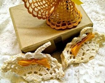 Vintage wedding, Vintage crochet,vintage wedding baskets, vintage wedding bells, vintage keepsake, vintage basket, vintage bell, ornament