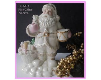 LENOX Santa Figurine * Santa With Toys * Lenox Fine China * Lenox Christmas * Christmas Decor