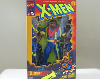 "Marvel Comics Toy, X-Men Action Figure, Bishop, X Men Gift for Men, Comic Book Toy, Vintage 90s X-Men Toy Biz 10"" Figure"