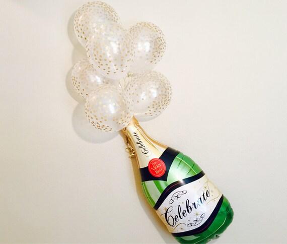 Champagne bottle balloon champagne bottle champagne gifts for Champagne balloon wall