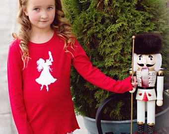 Nutcracker Ballet Shirt in Red/White by Nostalgic Graphic Tees