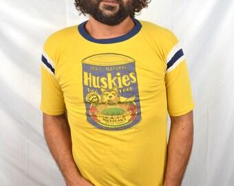 RARE Vintage 1980s 1981 University of Washington Pasadena Huskies Tee Shirt Shirt