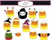 ON SALE Halloween Corn Clip Art // Candy Corn Clip Art,Halloween Clip Art, scrapbooking, printable, Cute Corn