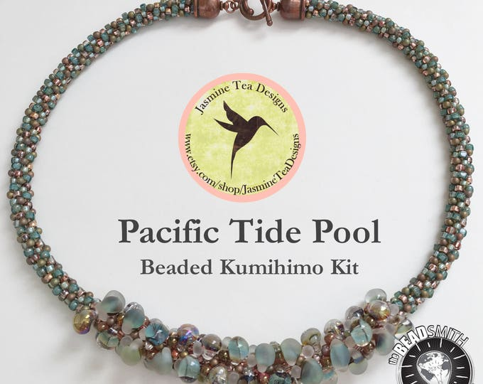 Pacific Tide Pool Beaded Kumihimo Necklace Kit, Complete Beaded Kumihimo Necklace Kit With Tutorial, Limited Edition Kumihimo Kit