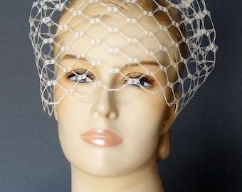 Birdcage Veil, Wedding Veil Short, Blusher Veil, Modern Veil, Blusher Veil