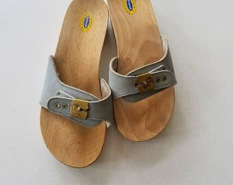 Dr SCHOLL'S Sandals Light Blue Slip Ons Size 8