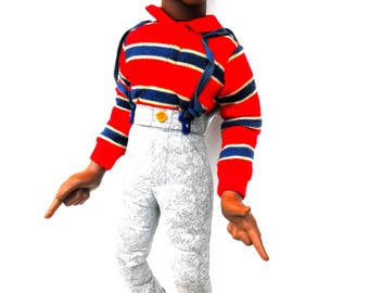 Vintage Steve Urkel Doll 1991 Family Matters TV Show Sitcom Talking Pull Toy Stefan Urquelle Early 1990s Pop Culture Collectible Memorabilia