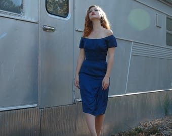 Ceil Chapman Dress / 1950s Dress / 50s Dress/ Mid Century Dress/ Pin Up Dress / Designer Dress / 50s Designer Dress/ Marilyn Monroe Dress