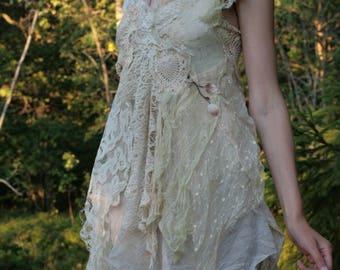 Nature spirit dress festival lace boho