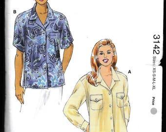 KWIK•SEW 3142  Misses Shirt Designs by Kerstin Martensson