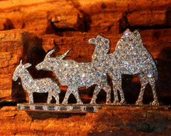 Cartier Brooch, Cartier animal brooch diamond 2.35ct platinum donkey buffalo camel France 1920s jewelry