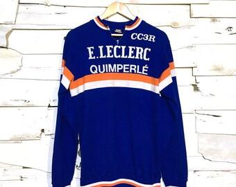 Vintage 1960's European Cycling Jersey Shirt - Medium