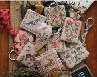 Festive Little Fobs Two, Springtime Edition : Cross Stitch Pattern by Heartstring Samplery