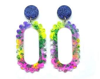 Acrylic Earring Statement Earrings Art Earring Laser Cut Earrings Drop Earring Stud Dangle Hoop Earrings Resin Earrings Laser Cut Jewelry