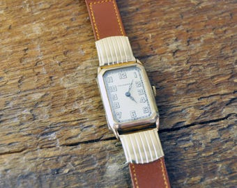 Tavannes Vintage 1930s High Style Mechanical Wrist Watch