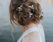 "Wedding Hair Accessories, Bridal Hair Pin, Bridal Hair Accessories, Bridal Headpiece ~ ""Ariana"" Leaf Wedding Pin (Silver, Gold or Rose Gold)"