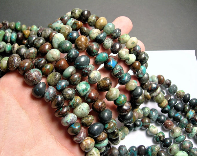Chrysocolla  gemstone - bead - full strand - big nugget -  10mm  - PSC391
