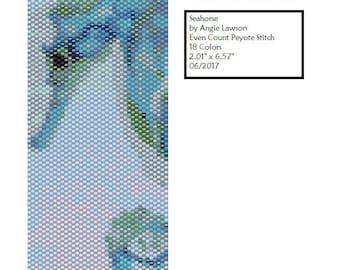 Even Count Peyote Stitch Bracelet Pattern Digital Download - Seahorse