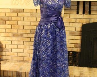 Vintage Prom Dress,  Party Dress, Cocktail Dress,  Int. Ladies Garment Workers Union