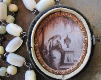 Mourning Scene & a Velvet Locket
