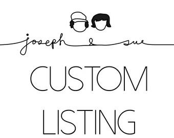 Custom Listing for Matthew
