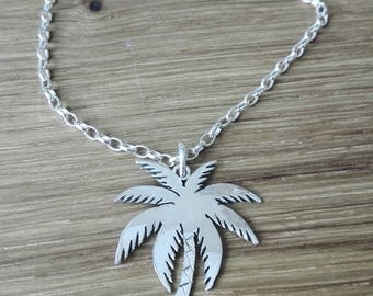 Palm Tree Pendant Sterling Silver