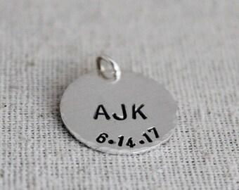 """initials + date disc 3/4"""" • alacarte"""