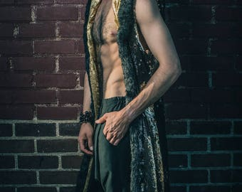 Men's Sequin Warrior Robe- Multiple Colors- Burning Man Festival Costume