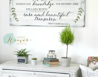Home Wooden Sign, Proverbs Sign, Rustic Wall Decor, Farmhouse Sign, Wedding Gift