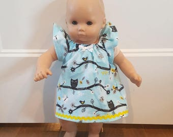 Bitty Baby Bitty Twin Doll Clothes - Owl Nightgown