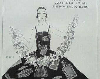 1920's Genuine French Lenthéric Perfumes Advert