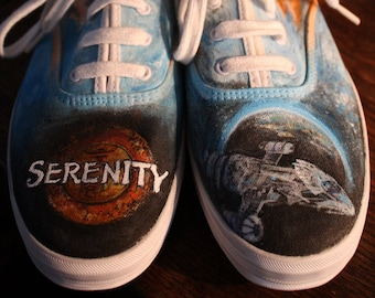 SERENITY and FIREFLY handpainted shoes ANY size Ladies Mens sneakers shoes
