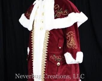 Custom Victorian Santa Suit Costume
