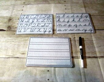 Cursive Writing Boards, Cursive Letter Writing Boards, Cursive Writing, Learning Tool, Educational, Letter Writing,  Learning Center