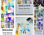 PRE-ORDER 2018 Muse Mantra Calendar (Slim Line) 145mm x 420mm